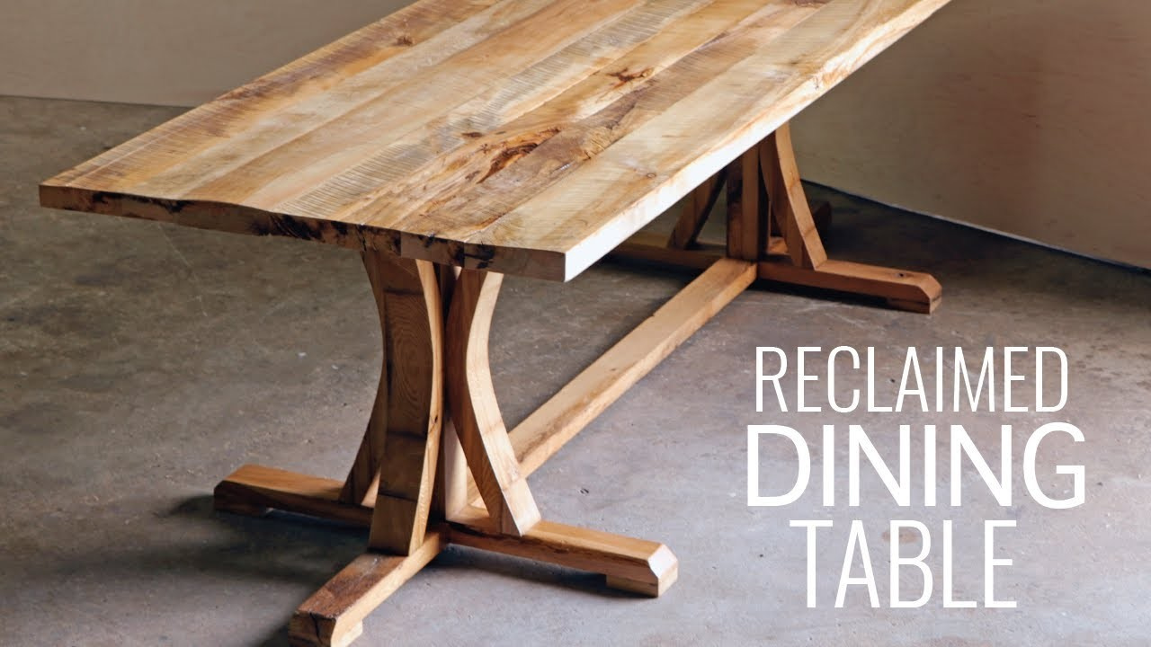 Diy rustic farmhouse dining table my crafts and diy projects for How to build rustic dining table