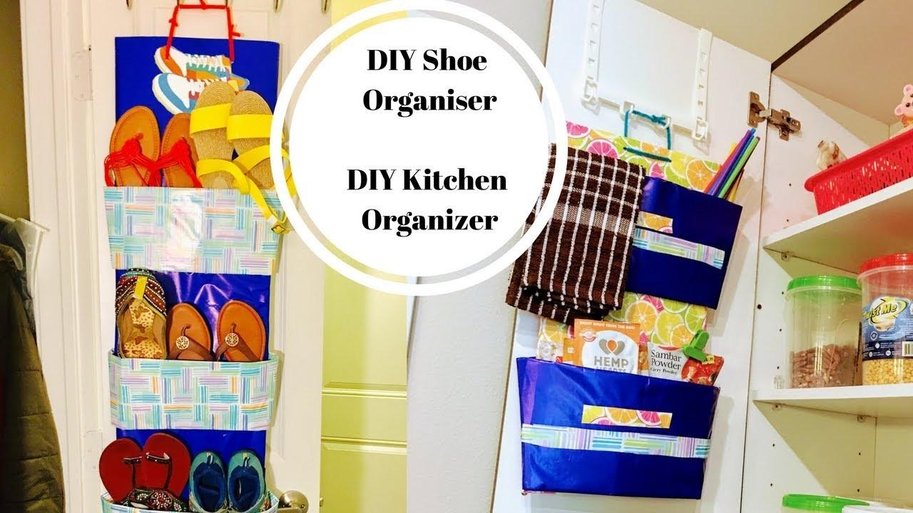 DIY Shoe Organizer. DIY Kitchen Organizer  l New Idea on Youtube l ReallIfe Realhome