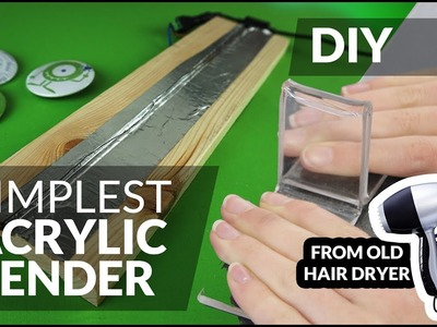 DIY simplest acrylic bender plexi bend - made from old hair dryer