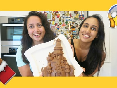 DIY Solid Chocolate Disney Castle!