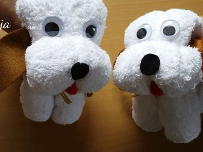 DIY  Toy Kid Easy Towel dog - Quick & Cute Gift