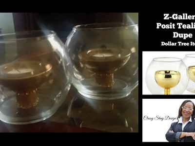 DIY: Z-Gallerie Tealight Candle Holder Dupe | Dollar Tree Items