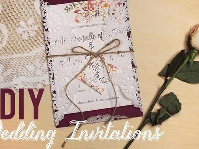 EASY DIY WEDDING INVITATIONS! | katiecreepzalot
