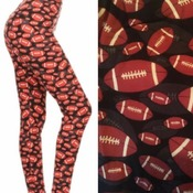 FOOTBALL Women's ONE SIZE 2-12 Buttery Soft Leggings