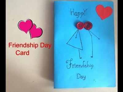 Friendship day card: handmade card