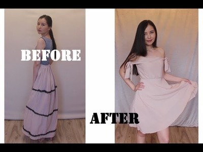 From skirt to dress- thrifted DIY Diary [Ep 8]