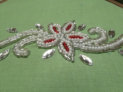 Hand Embroidery  Beads Work
