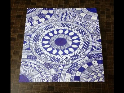 Handmade card ideas to make Mandala card