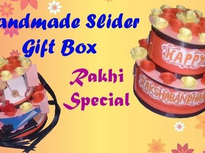 Handmade Slider Gift Box. Raksha Bandhan Special.open