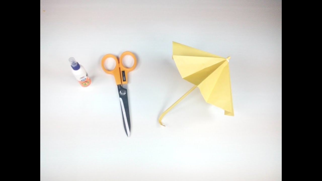 How To Make A Paper Umbrella Easy Tutorials Step By Origami That Open And Closes HD