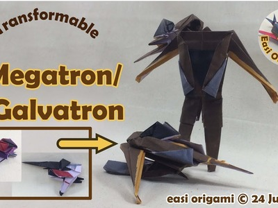 How to make a Papercraft, Origami Transformer Megatron (requires 1 straight cut)