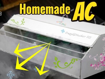 How to make Air Conditioner at Home that 100% Working | DIY Air conditioner | Another  Eco Cooler AC