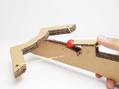 How to Make an Amazing Gumball Crossbow from Cardboard Easy DIY