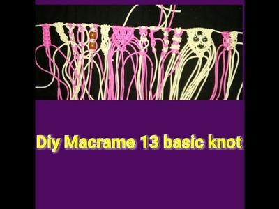How to make macrame basic knot diy