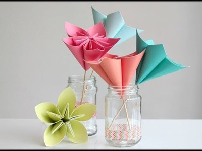 How to Make Origami Paper Flowers | Flower Making with Paper Tutorials | Crafty TV .