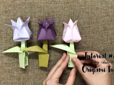 How to Make Origami Tulip Step by Step? | The Idea King Tutorial #21
