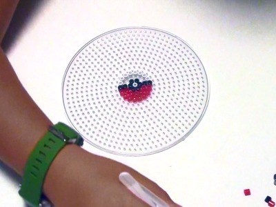 How to make Pokeball with Hama -Perler Beads