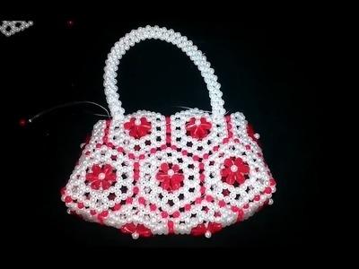 How to Make Putir Party Bag | Beads Bag | Putir Purse | পুতির ব্যাগ তৈরি PART - 1