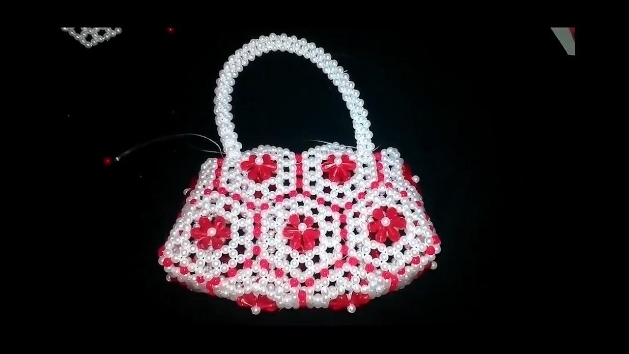 How to Make Putir Party Bag   Beads Bag   Putir Purse   পুতির ব্যাগ তৈরি PART - 1