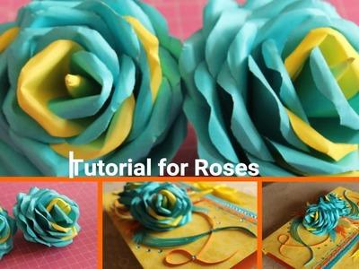 HOW TO MAKE ROSE   HANDEMADE ROSE  Tutorial for handmade Rose!!