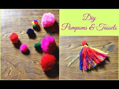 How to make Tassels & Pompoms | DIY Pompoms & Tassels | Pompoms & Tassels
