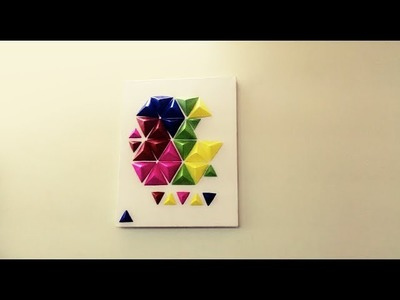 How To Make Wall Art with Origami Pyramid