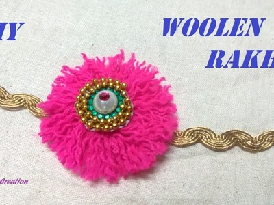 How to make Woolen rakhi.diy woolen rakhi