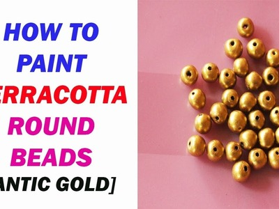 How to paint terracotta beads. terracotta paint ing