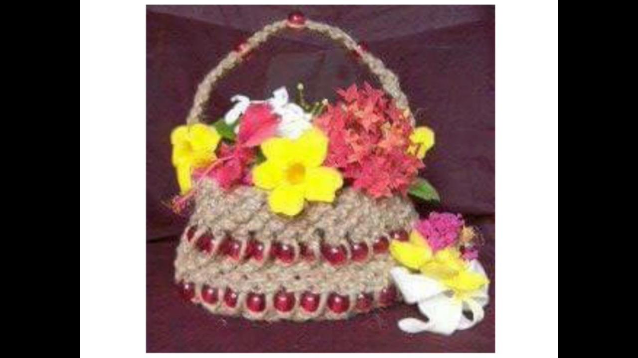 Handmade Basket Tutorial : Jute handmade basket diy patterns by dhanlaxmi handicraft