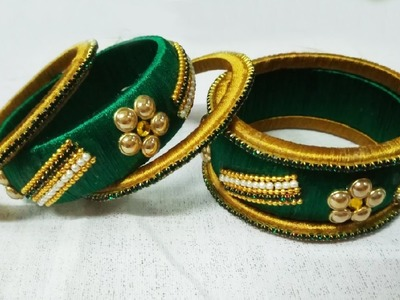 Latest silk thread bangles for party wear | DIY Bangles making video