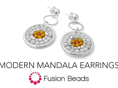 Learn how to make the Modern Mandala Earrings by Fusion Beads