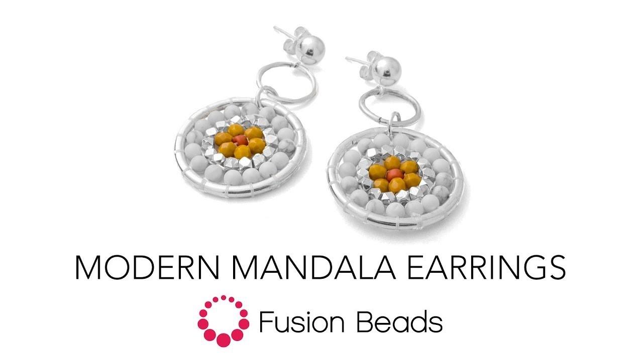 Learn how to make the Modern Mandala Earrings by Fusion Beads