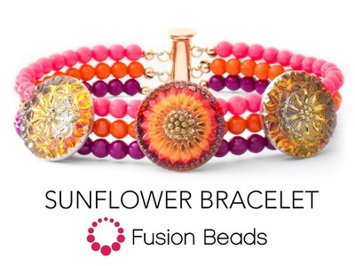 Learn how to make the Sunflower Bracelet by Fusion Beads