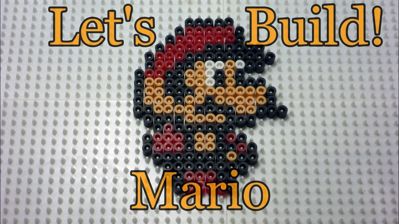 Let's Build Mario From Super Mario Bros 2 In Perler Beads