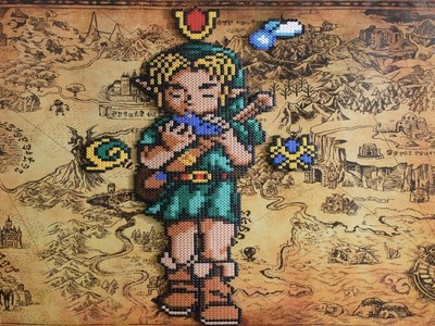 Link de Ocarina Of Time con Hama.Perler Beads