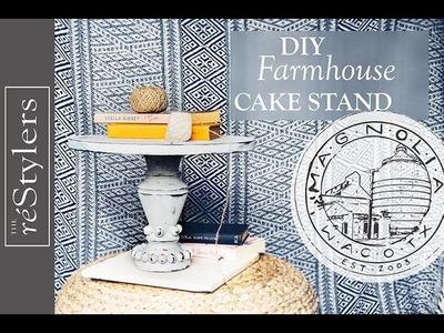 Magnolia Market Inspired | Farmhouse Cake Stand | DIY Tutorial
