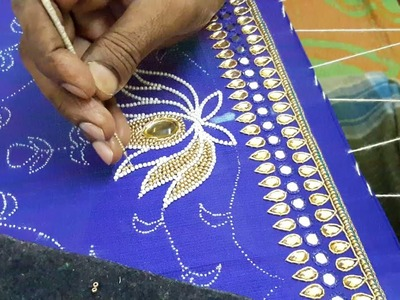 Making of LOTUS flower with Pearls and Beads