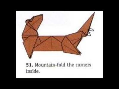 Nutria in origami - Nutria en Origami