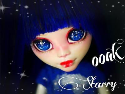OOAK Starry sky Monster High Custom doll repaint diy