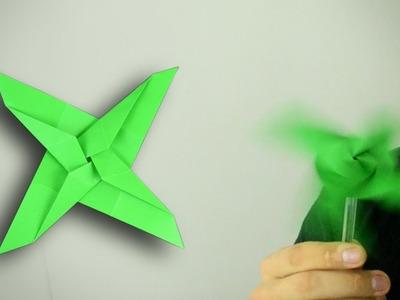 Origami: 4-Bladed Shuriken Propeller - Instructions in English (BR)