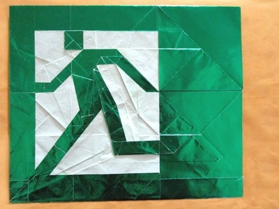 Origami Escape tutorial (Morisue Kei) 折り紙 非常口 Notausgang emergency exit salida de emergencia