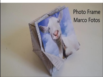 #Origami Mini Photo Frame Display with Stand - Marco de Fotos de Papel