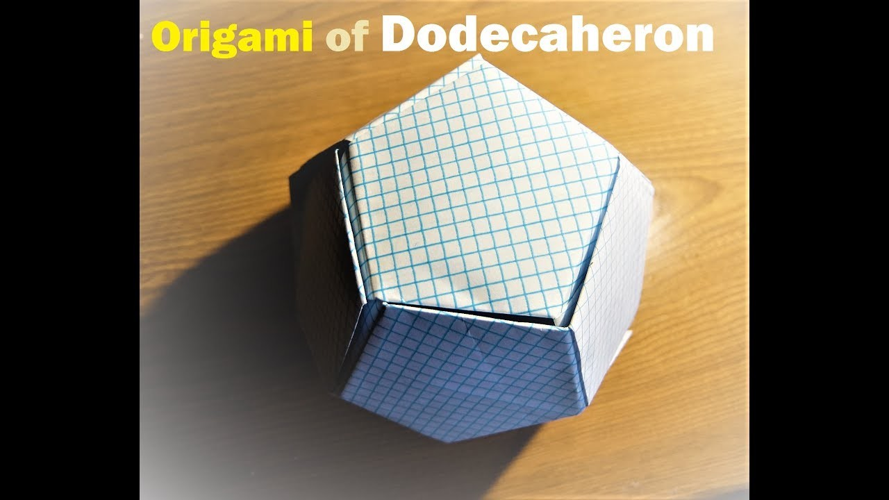 origami of dodecahedron