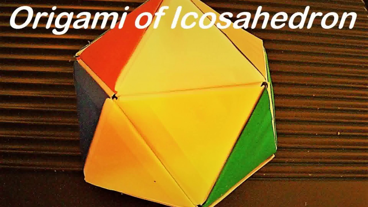 how to make icosahedron with paper