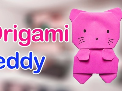 ORIGAMI TEDDY BEAR : Origami Teddy Bear Tutorial-paper teddy bear handmade decoration