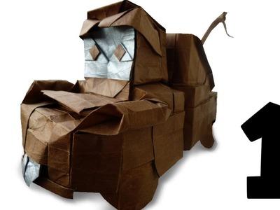 Origami Tow Mater Tutorial (NGUYỄN Hùng Cường) Part 1.? - Precreasing
