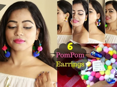 PomPom earrings DIY.How to make earrings at home