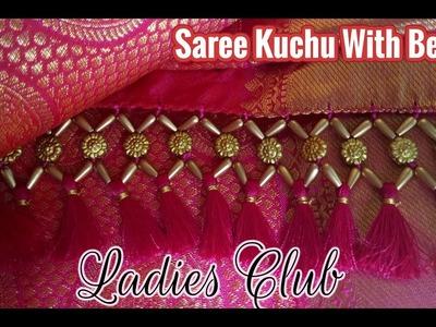 Saree Kuchu I Saree Tassels Making with Beads New Design I Gonde Designs