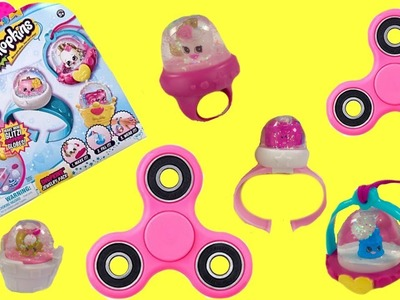 Shopkins Glitzi Globes Ring Necklace DIY Fidget Spinner Toy Surprises   Fizzy Toy Show