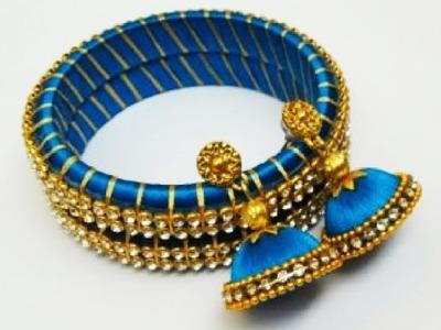 Silk Thread Jhumkas making video   DIY Jhumkas ,Earrings,Bangles